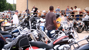 Austin Motorcycle riders at a local rally